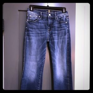 7 For All Mankind- cropped boot jeans